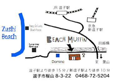 map to beach muffin