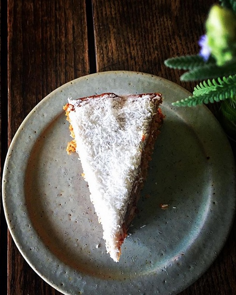 carrot coconut vegan cake
