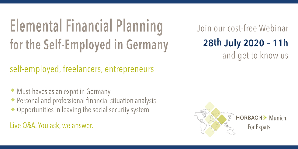 Elemental Financial Planning for the Self-Employed in Germany