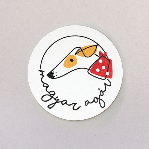 coaster (Hungarian dog breed - magyar agár)