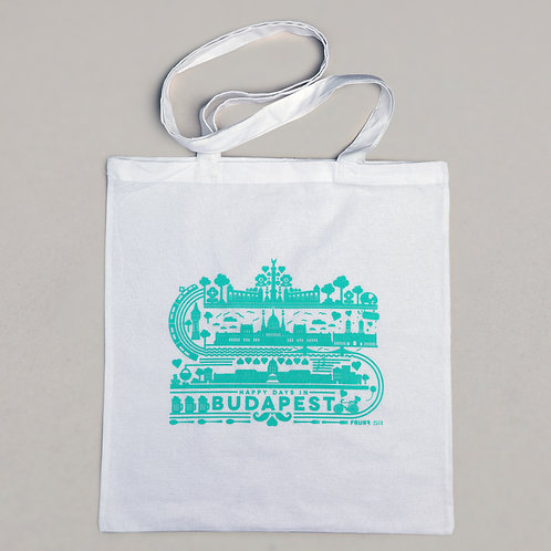 textile bag - happy days in Budapest