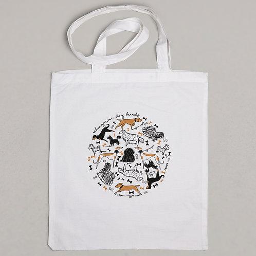 textile bag - hungarian dog breeds