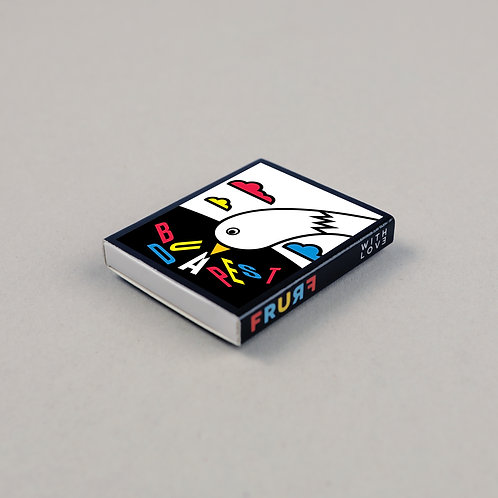 fridge magnet safety match (bird)