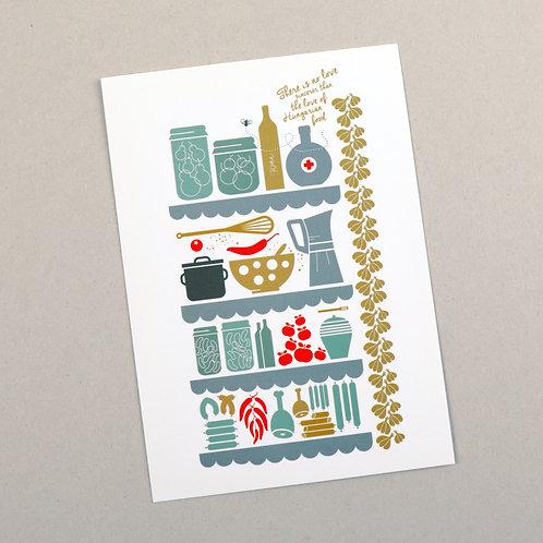 postcard (hungarian food)