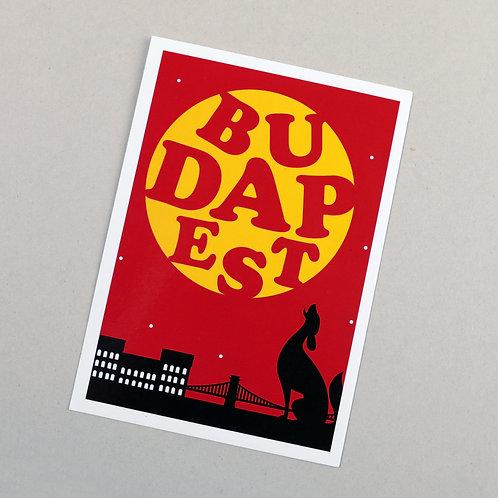 postcard (Budapest night)