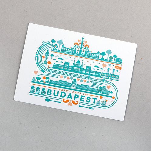postcard (happy days in Budapest)