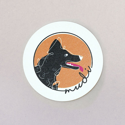 coaster (Hungarian dog breed - mudi)