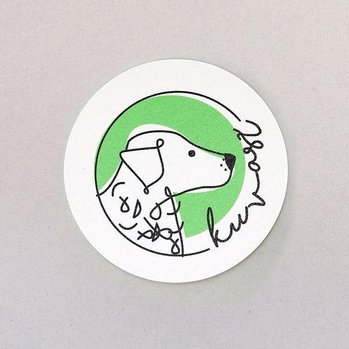 coaster (Hungarian dog breed - kuvasz)