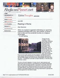 Travel -- Reeling in rome