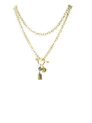 A. Punto - Gold Chain with Toggle Charm Necklace