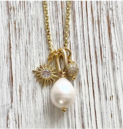 VB& Co. - Pearl Charm Necklace