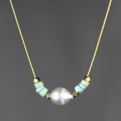 KBD - Pearl & Turquoise Necklace