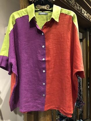 Alembika - Linen Color Block Campshirt