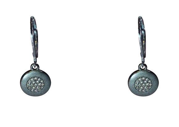 A.Punto - Pave Diamond Oxidized Earrings