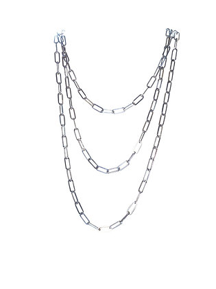 A. Punto - Paperclip Long Chain in Silver