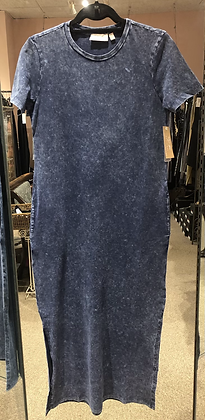 RD Style - Blue Acid Washed Midi Dress