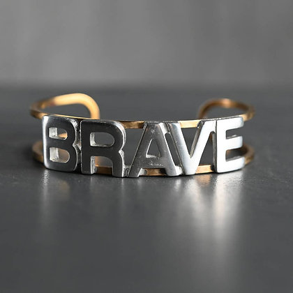KBD - Mixed Metal Brass Cuff (BRAVE)
