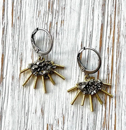 VB & Co. - Pyrite Sun Earrings