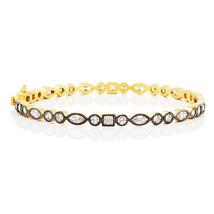 Freida Rothman - SIgnature Mixed Shape Bangle
