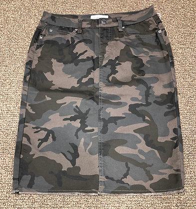 Tribal Jeans - Camo Jean Pencil Skirt