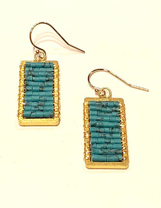 Turquoise Rectangle Earrings