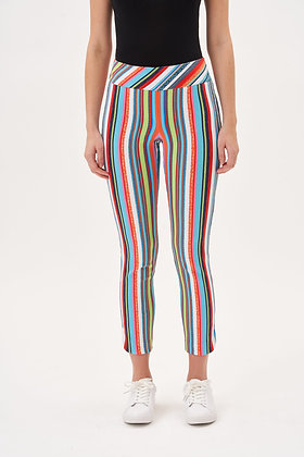 UP! - Muliti Stripe Petal Slit Pants