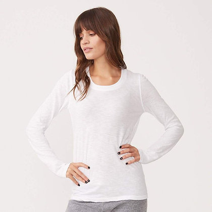 Monrow - Textured Tri-blend Fitted Long Sleeve Crew