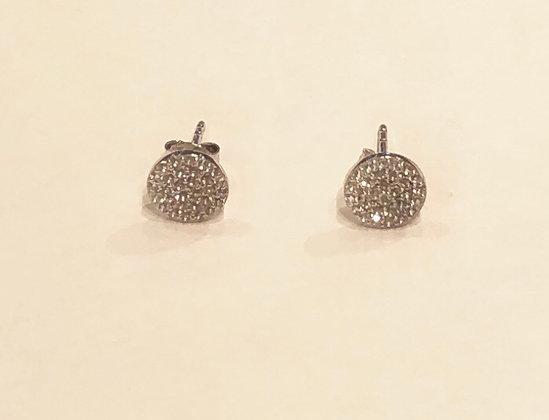 A.Punto - White Topaz Stud Earrings