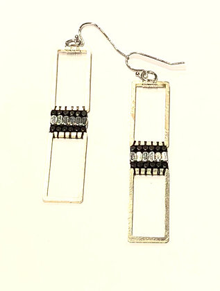 Modern Open Rectangular Earrings