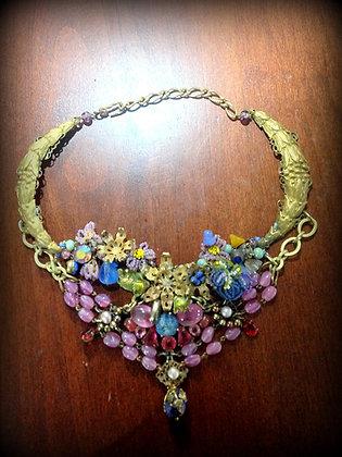 Apryl Sasscer Jewelry - Floral Bib Necklace