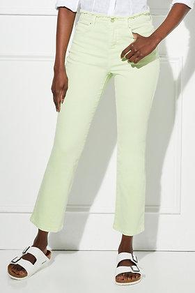 Ecru - Sunset Cropped Flare Jeans