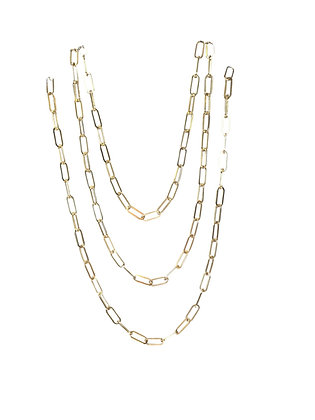 A. Punto - Paperclip Long Chain in Gold