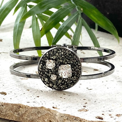 VB & Co. - Pyrite Cuff Bracelet