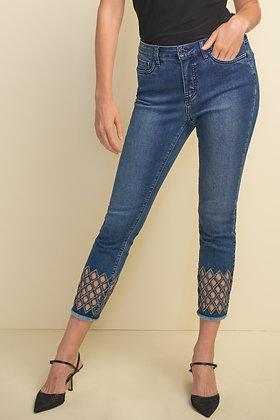 Joseph Ribkoff -Diamond Cut-Out Jeans