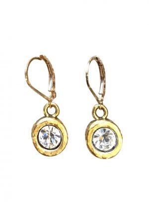 A. Punto - GoldEarrings with Preciosa Crystal
