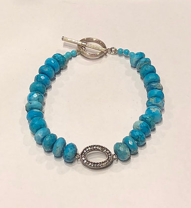 A. Punto - Turquoise and White Topaz Bracelet