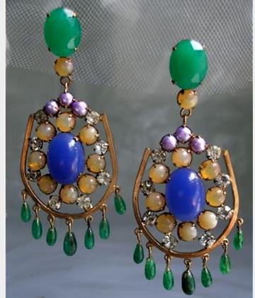 Apryl Sasscer Jewelry Lg Multi Earrings