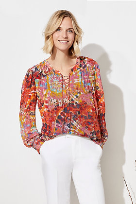 Ecru - Wright Top with Gather Details
