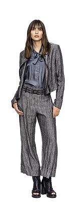 Beate Heymann Street Couture - Linen Striped Crop Pant