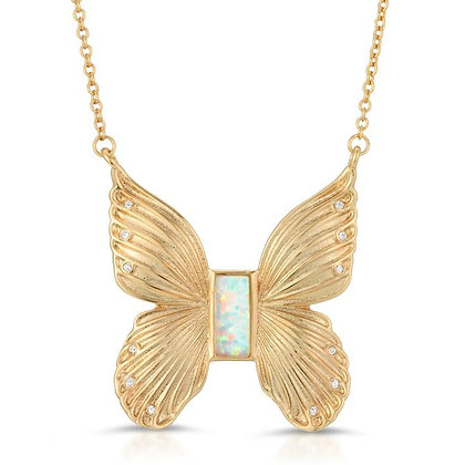 Elizabeth Stone - Butterfly Necklace with Opal