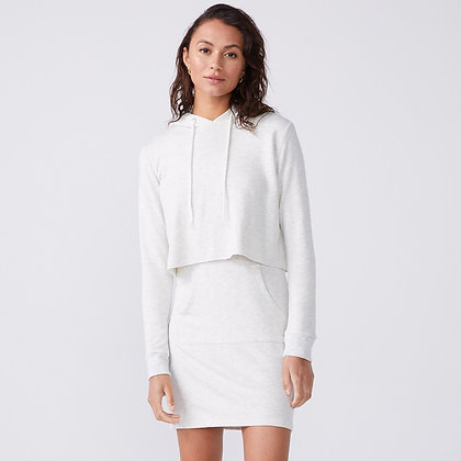 Monrow - Double Layer Hoodie Dress