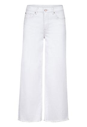Tribal - 5 Pocket Wide Leg Crop Jeans