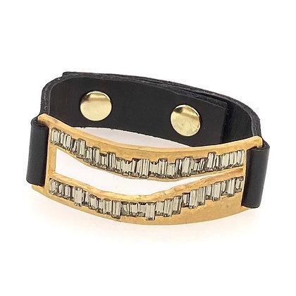 Rebel Designs - Rectangle with Baquette Edge Bracelet