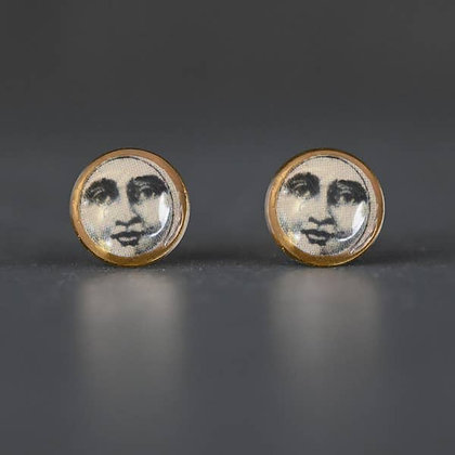 KBD - Tiny Picture Moon Face Studs