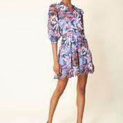 Hale Bob - Navy Print Tiered Dress
