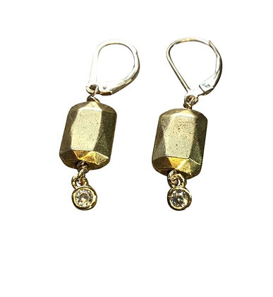 A. Punto - Gold Bead Earrings
