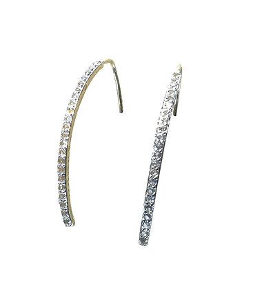 A. Punto - White Topaz on Vermeil Wire Earrings