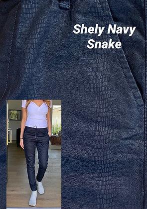 Bevy Flog - Shely Navy Snake