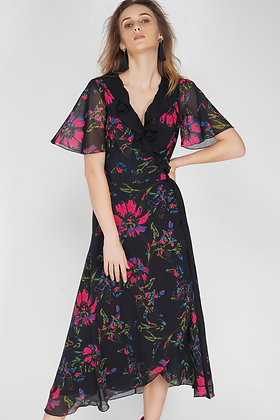 Benares - Wrap Floral Dress