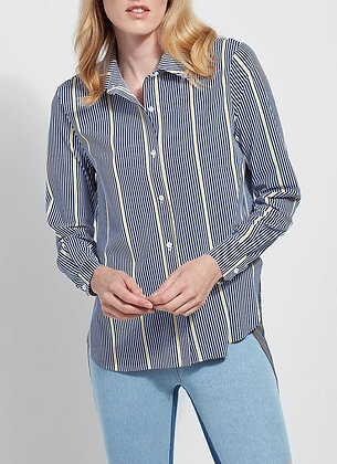 Lysse - Connie Slim Button Down Print Shirt